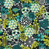 Cute skulls seamless pattern. — Cтоковый вектор