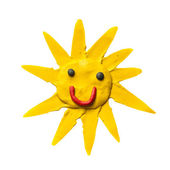 Cartoon sun with smile. — Stock Photo