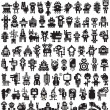 Big set of icons with monsters and robots. — Stock Vector #29241471