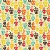 Funny skull seamless. — Stock Vector