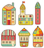 Collection of cute houses. — Stock Vector