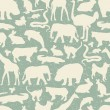 Animals silhouette seamless pattern. — Stock Vector #29837863