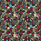 Cute skulls seamless pattern. — Stock Vector