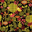 Beautiful seamless pattern of pretty flowers. — Stok Vektör #31088881
