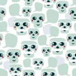 Seamless pattern with funny skulls. — Stock Vector