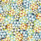 Fondo transparente con bolas de flores. — Vector de stock