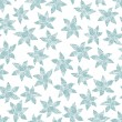 Winter flowers seamless pattern. — Imagen vectorial