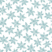 Winter flowers seamless pattern. — Stock Vector