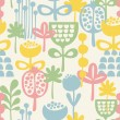 Seamless pattern with plants. — Stock Vector