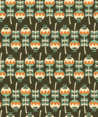 Seamless pattern with plants. — Stockvektor