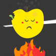 Poor fruit. — Image vectorielle