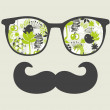 Retro sunglasses with reflection for hipster. — Stockvectorbeeld