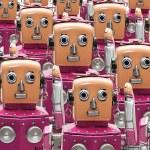 Pattern of robots. — Stock Photo