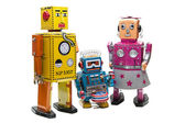 Robot family. — Stock Photo