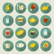 Food icon set on the banners. — Stock Vector