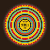Retro label for summer time. — Stock Vector
