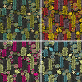 Set of colorful seamless patterns with flowers. — Vettoriale Stock
