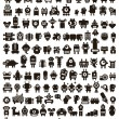 Mega set of small monsters and robots. — Stok Vektör #43243207