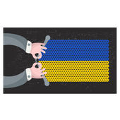 Hand made flag of Ukraine. — Wektor stockowy