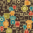 Robot and monsters seamless pattern. — ストックベクタ #4443574