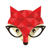 Hipster emblem with fox. — Stock Vector