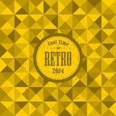 Retro pattern with yellow triangles. — Stock vektor