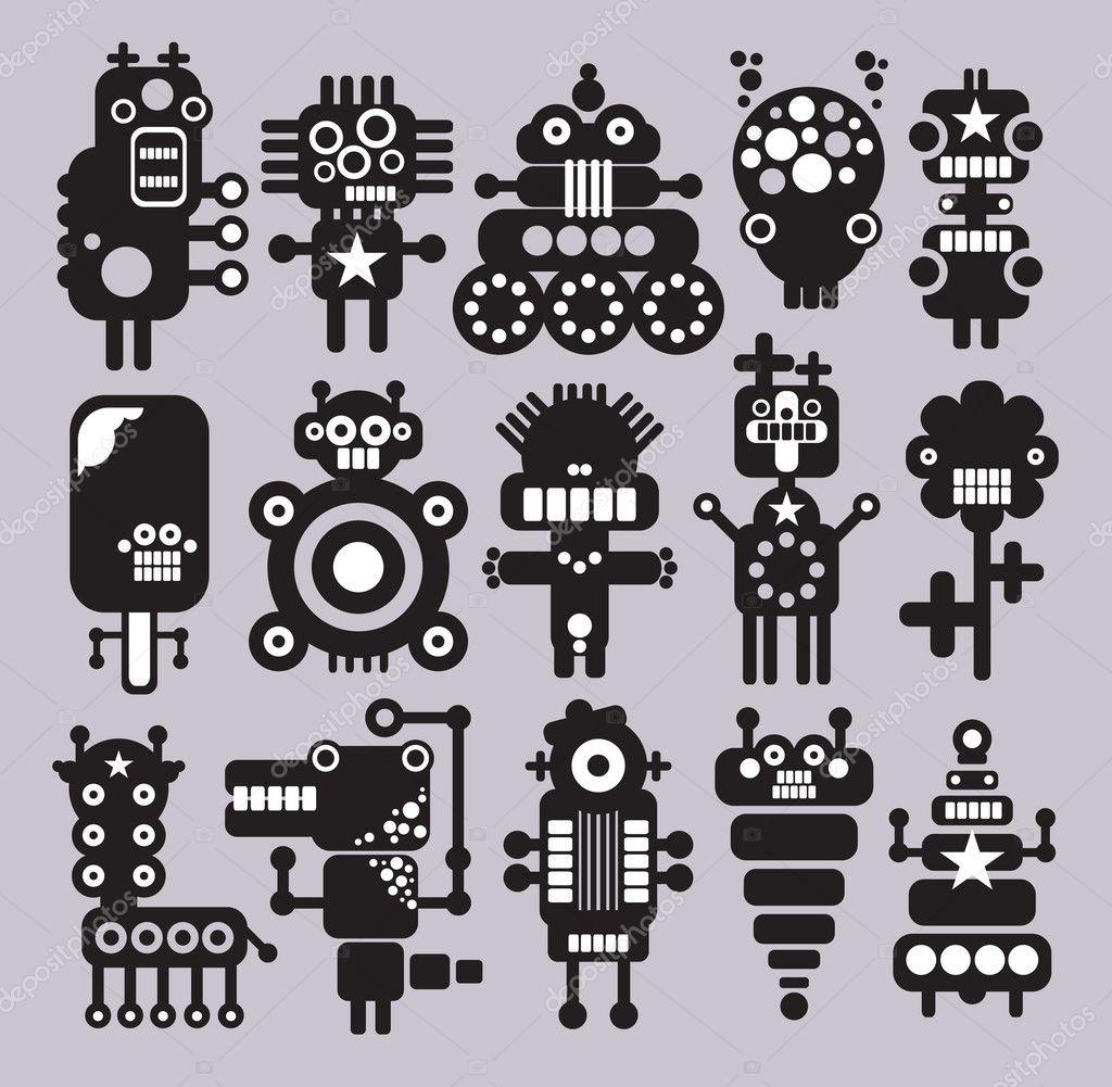 Aliens Robot Robots Monsters Aliens