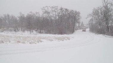 Zware sneeuwval. — Stockvideo