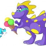 Dino_baby_ijs_01 — Vettoriale Stock