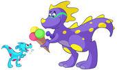 Dino_baby_ijs_01 — Stock Vector