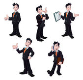 Collection of business men — Stock Vector