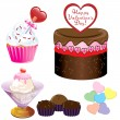 Valentine Sweets - Stock Vector