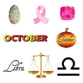 October Icons — Stock Vector