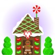 Christmas Gingerbread House 1 — Stock Vector