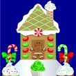Stock Vector: Christmas Gingerbread House 2