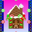 Stock Vector: Christmas Gingerbread House 3