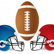 Football Helmet Design — Stock Photo