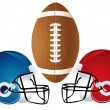 Football Helmet Design - Stock Photo