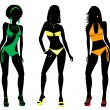 Stock Photo: Swimsuit Silhouettes 2