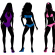 Stock Photo: Swimsuit Silhouettes 3