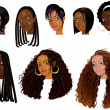 Black Women Faces 2 — Stock Photo