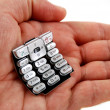Stock Photo: Stock picture of a cell phone keypad