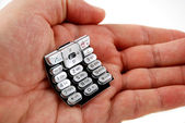 Stock picture of a cell phone keypad — Stock Photo