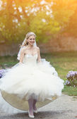 Portrait of attractive bride — Stock Photo