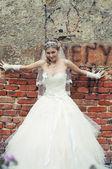 Portrét atraktivní nevěsta — Stock fotografie