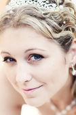 Porträtt av attraktiv brud — Stockfoto