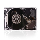 Hard disk isolated on a white background — Stock Photo