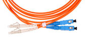 Border Fibre Optic Network Cables — Stock Photo