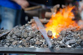 Blacksmith furnace — Stock Photo