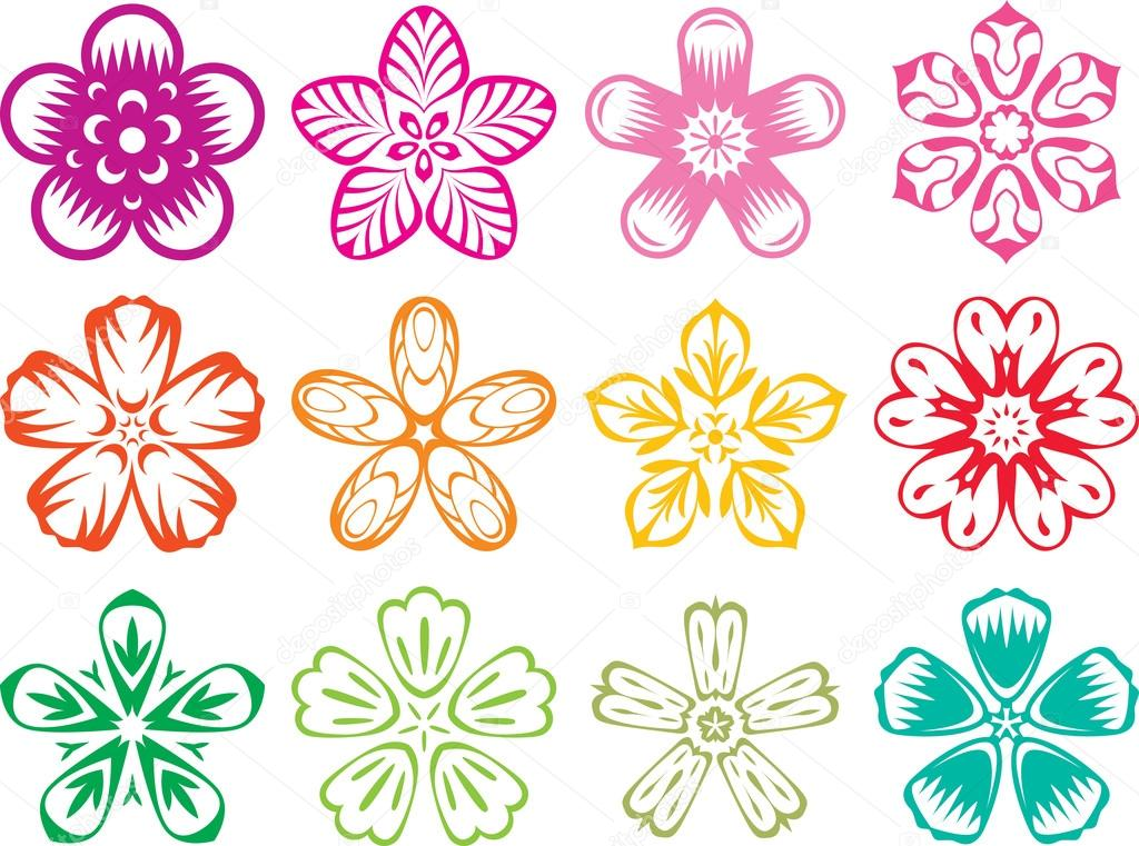 Chinese Flower Vector Chinese Flowers Vector